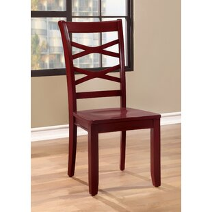 Waynesville Solid Wood Dining Chair (Set of 2) Breakwater Bay