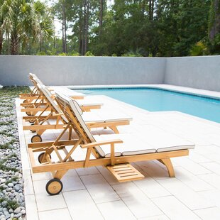 Bahama Reclining Teak Chaise Lounge by Chic Teak