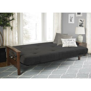 Bergen Wood Arm Futon Wayfairca