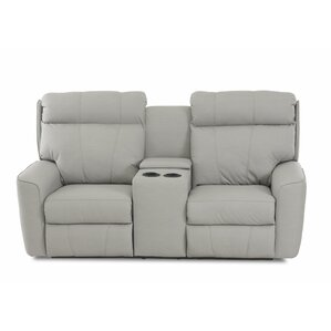 Chau Power Reclining Loveseat with Console b..