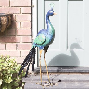 Reeves Peacock Statue By Sol 72 Outdoor