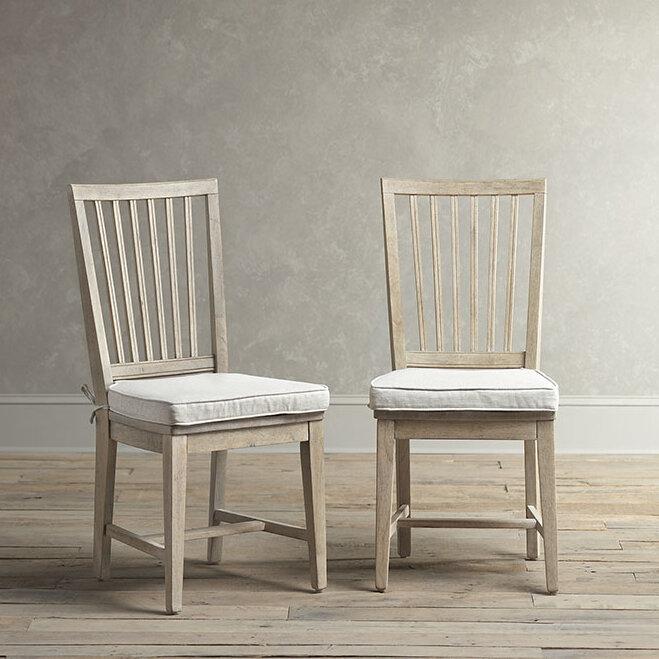 Birch Lane Gulielma Upholstered Slat Back Side Chair Reviews Wayfair