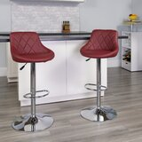 Occoquan Adjustable Height Swivel Bar Stool (Set of 2) by Wrought Studio™