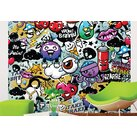 Brewster Home Fashions Graffiti Monster Wall Mural