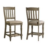 Paola Slat Back 24 Barstool (Set of 2) by Darby Home Co