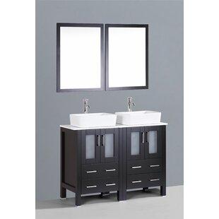 Netto 47 Double Bathroom Vanity Set with Mirror by Ebern Designs