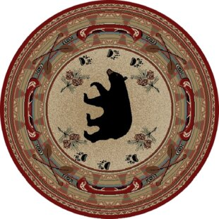 Hearthside Woodlands Bear Area Rug by Mayberry Rug