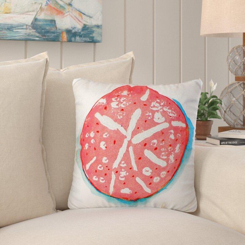Highland Dunes Liesel Sand Dollar Indoor Outdoor Throw Pillow Cover Wayfair