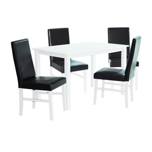 Farmington Dining Set With 4 Chairs By Brambly Cottage