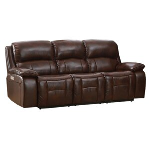 Westminster II Leather Reclining Sofa by HYDELINE BY AMAX