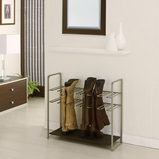 Read Reviews Stackable 2-Tier Metal Shoe Rack By Rebrilliant