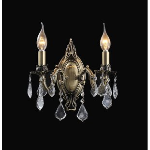 Great choice Brass 2-Light Candle Wall Light By CWI Lighting