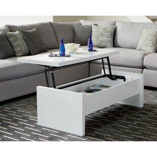 Latitude Run Uller Glossy Lift Top Coffee Table