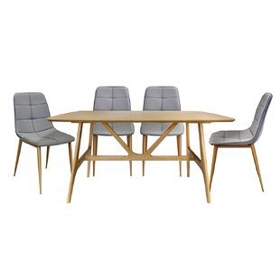 Harp Extendable Dining Set With 4 Chairs By Gracie Oaks