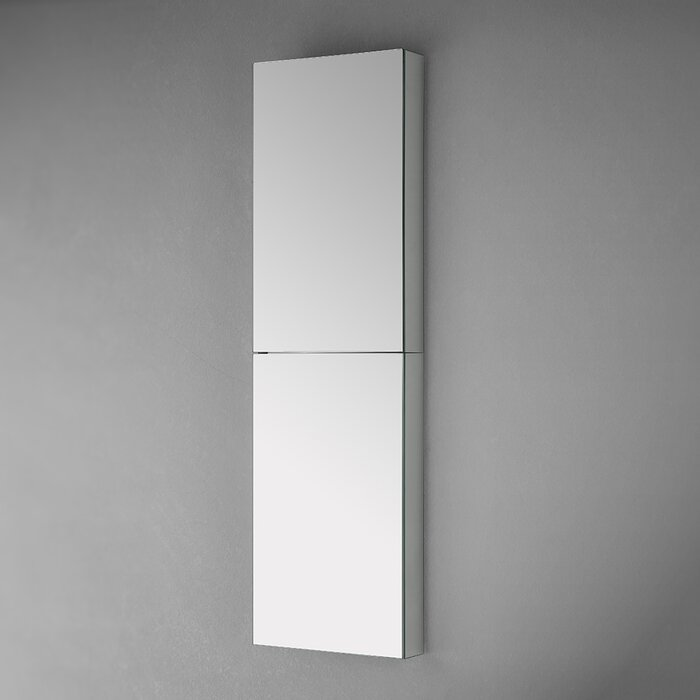 Fresca Tall Bathroom 15 X 52 Recessed Or Surface Mount Frameless