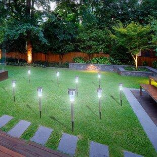 Solar Stump Light Warm White Garden Light Outdoor Lawn Garden Yard Column Light