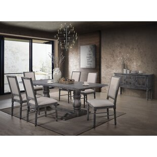 Ahrens 7 Piece Solid Wood Dining Set