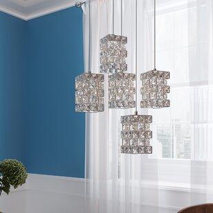 Cross 5-Light LED Cluster Pendant by Mercer41