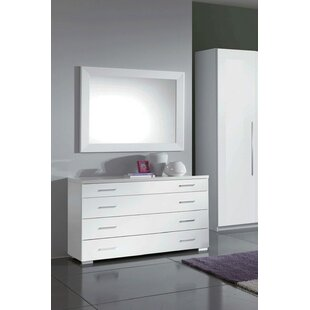 Clem 4 Drawer Dresser with Mirror