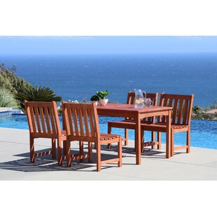 Beachcrest Home Monterry Classic 5 Piece Wood Dining Set