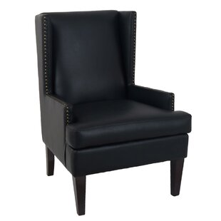Metzler Nailhead Trim Wingback Chair by Charlton Home