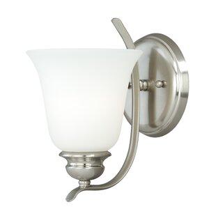 Nicholas 1-Light Bath Sconce by Ebern Designs
