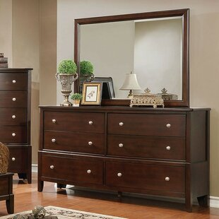 Cherie 6 Drawer Double Dresser with Mirror