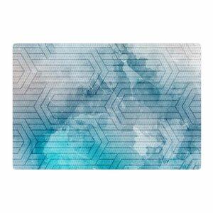 Matt Eklund Frost Labyrinth Blue/White Area Rug