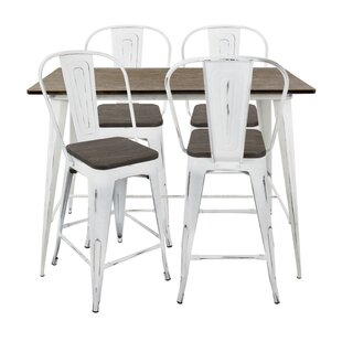 Claremont 5 Piece Dining Set Union Rustic