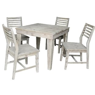 Gallego 5 Piece Solid Wood Dining Set