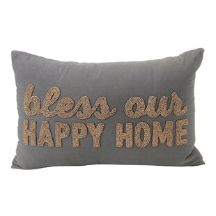 Bless our Happy Home Lumbar Pillow