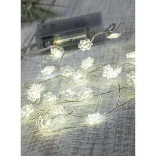 The Holiday Aisle Snowflake 20 Light String Lighting (Set of 4)