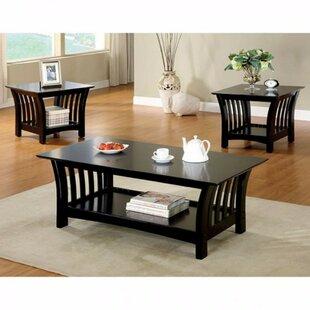 Winston Porter Procter Wooden 3 Piece Coffee Table Set