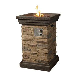 Peaktop Rock Faux Stone Propane Fire Column