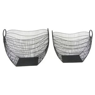 2 Piece Metal Basket Set By Sagebrook Home