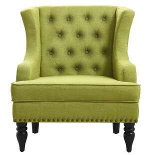 Great Green Wingback Accent Chairs Youu0027ll Love | Wayfair