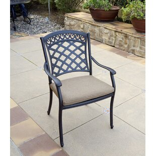 Brecksville Stacking Patio Dining Chair with Cushion (Set of 6)