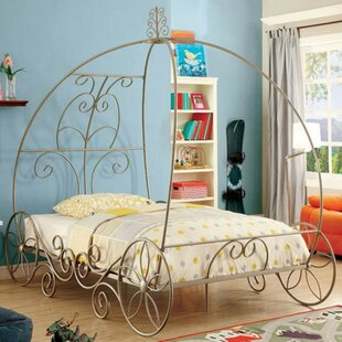Hague Twin Canopy Bed by Zoomie Kids