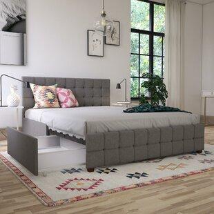 Elizabeth Upholstered Platform Bed with Storage Beds You\u0027ll Love | Wayfair