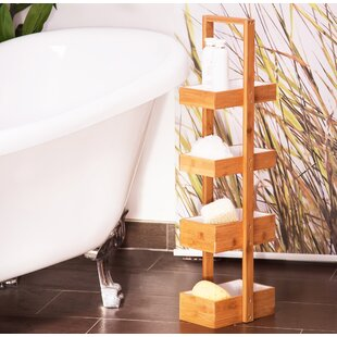 25.5cm x 88.5cm Bathroom Shelf by Relaxdays