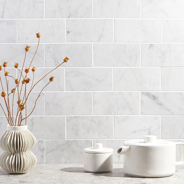 Ivy Hill Tile Carrara 3 X 6 Marble Subway Tile