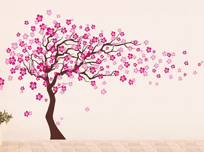 Superb Cherry Blossom Tree Wall Decal