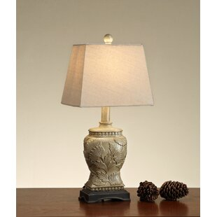 Holsinger Carved Base Polyresin 20 Table Lamp (Set of 2)
