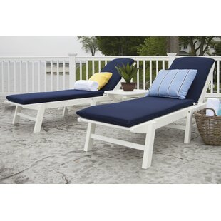 POLYWOOD® Nautical 3-Piece Chaise Set with Cushions