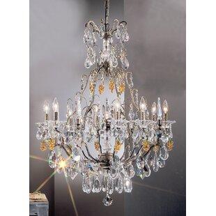 Classic Lighting Garden of Versailles 9-Light Candle Style Chandelier