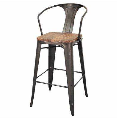 Prime Trent Austin Design Ellery 30 Bar Stool Finish Gunmetal Squirreltailoven Fun Painted Chair Ideas Images Squirreltailovenorg