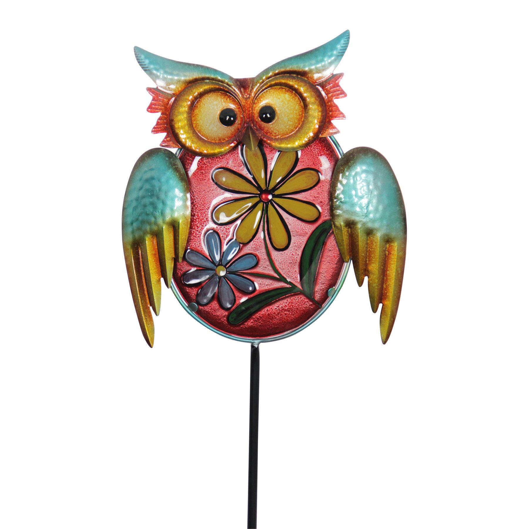 August Grove Dozier Metal Owl Garden Stake | Wayfair
