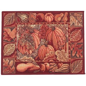 Fall Harvest Pumpkins And Autumn Leaves Placemat (Set Of 4)