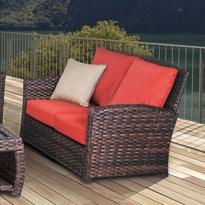 Remmers Loveseat with Cushion Bloomsbury Market Color: Cornsilk