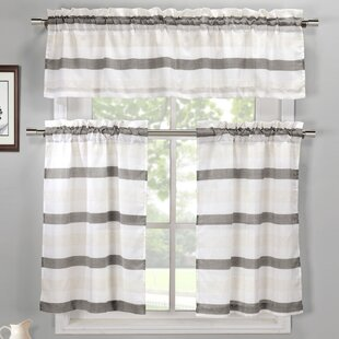 Ferguson 3 Piece Linen Kitchen Curtain Set By Gracie Oaks
